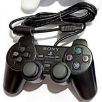 Paket gamepad joystick 2pcs stick PS2 ori pabrik + converter to PC ps3 - Hitam
