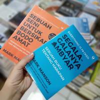 Paket 2 Buku - SEGALA SEGALANYA AMBYAR DAN SENI BODO AMAT- Mark manson