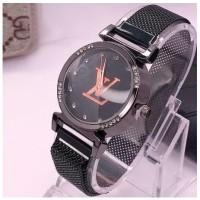 Jam tangan wanita magnet LV permata luar dalam