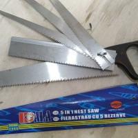 gergaji kayu 5 in 1 xp tool/ multi purpose handsaw