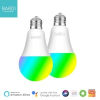 [2PCS] BARDI Smart LED Light Bulb RGB+ WW 9W Wifi Wireless IoT Home
