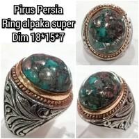 cincin batu akik permata pirus persia 18157
