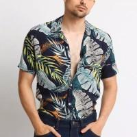 Mentli Floral Denzer Casual Shirt - Kemeja Pria