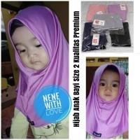Jilbab Bayi Anak Kerudung Bayi Hijab Bayi Size 2 Kualitas Premium