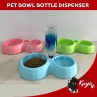 Pet Bowl Tempat Mangkuk Makan Minum Anjing Kucing Kelinci Dispenser