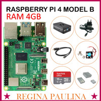 Raspberry Pi 4 Model B RAM 4GB ( MICROSD 16GB 32GB 64GB ) - ENAM BELAS
