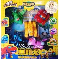 Figur GO GO DINO 1 set BIsa Jadi Robot - Koleksi dan Mainan Anak