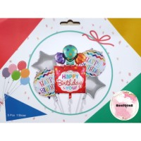 Balon Foil Set Ulang Tahun / Paket ulang Tahun / Balon Ulang Tahun 02