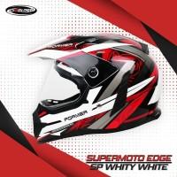 Cargloss Former Supermoto Helm FullFace - EDGE White Inner Orange