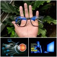 kacamata normal dan minus lensa anti radiasi blue ray komputer HP