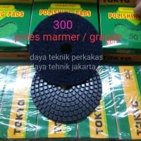 polishing pad 300 - diamond pad poles marmer - pad poles granite