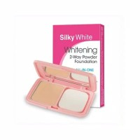 Silky Girl White Brightening 2 - Way Powder Foundation All In One Spf