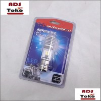 Lampu Bohlam Motor LED Bebek Matic Autovision Socket H6 Putih Universa