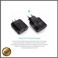 AUKEY Quick Charge 3.0 18W USB Wall Charger PA-T9 PAT9 PA T9 - Black