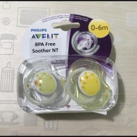 Philips Avent Soother 0-6M Night Time Pacifiers - Twin Pack / Empeng /