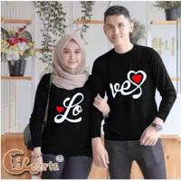 sweater couple Lo Ve CINTA / sweater pasangan valentine baju couple