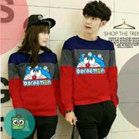sweater couple stand by me 3 tone / baju babyterry doraemon