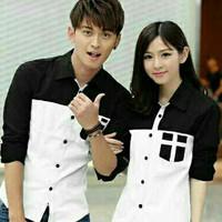 kemeja couple korea avery / kemeja pasangan formal