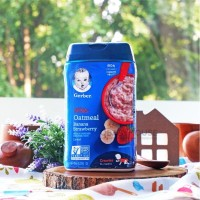 Gerber Lil Bits Oatmeal Banana Strawberry Cereal 8m+ 227gr