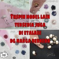 Pin Tuspin Mutiara Tusuk Peniti Pearl Bros Hijab Jarum Pentul Kerudung