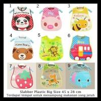 GRATIS ONGKIR Celemek bayi / Slaber Plastik Waterproof / Baby Bib
