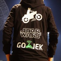 Keren Jaket Hoodie/ Jumper Sweater Star Wars Gojek Polos Custom Ojol