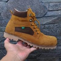 Boots pria wanita sepatu safety shoes ujung besi kerja kuliah dinas