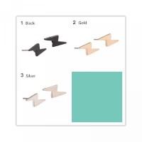 Hadiah/Pesta Model [COD]Anting Hitam/Emas/Silver Tusuk Pria/Wanita Pet