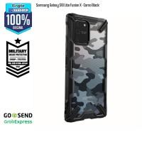 Ringke Samsung Galaxy S10 Lite Fusion X - Camo Black Military Softcase