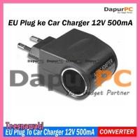 Sale Adaptor Acdc Car Charger Switch 12V 500 Ma Eu Plug Black