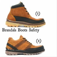 Sepatu brandals boots safety footwear hand made original ujung besi