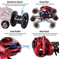 Berburu Diskon Sougayilang 9+1BB Metal Baitcasting Fishing Reel 8:1