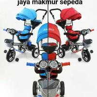 Sepeda roda tiga stroller Family F360 H kanopi jok diputar