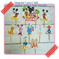 topper toper cup cake kue ulang tahun karakter minnie mickey mouse
