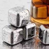 PUC Es Batu Stainless Steel Reusable Ice Cube Pendingin Non Cair