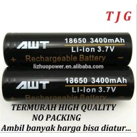Baterai / Batre AWT 3400 mAh Li-ion 3.7v Hitam / Black 18650