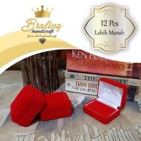 (12 Pcs) Kotak Cincin Bludru Untuk 2 Cincin | Kotak Perhiasan Bludru