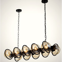 Lampu gantung hias meja makan BALL INDUSTRIAL SERIES OXI pendant light