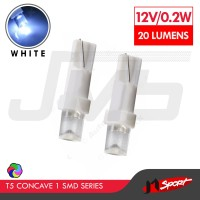 Lampu LED Mobil/Motor/SpeedometerDashboard T5 1 SMD Concave - White