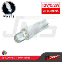 Lampu LED Mobil/Motor/Speedometer/Dashboard T5 1 SMD Convex-White