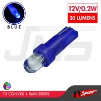 Lampu LED Mobil/Motor/Speedometer/Dashboard T5 1 SMD Convex-Blue