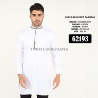 Baju Koko Jubah Gamis Putih Pakistan 3/4 Lengan Panjang Berkualitas