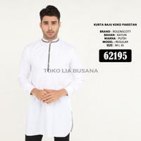 Baju Koko Kurta Gamis Putih Pakistan 3/4 Bahan Katun Premium Quality