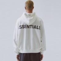 Fear Of God Essentials Jaket Hoodie Reflective White 100% Original