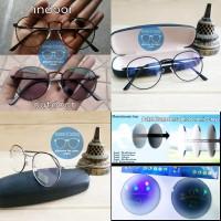 kacamata frame korea besi + lensa photocromic rubah warna