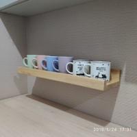 rak dinding rak kayu ambalan floating shelf jati belanda