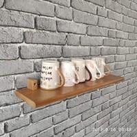 Deskripsri rak dinding kayu Atau ambalan floating shelf tanpa batasan