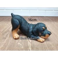 patung pajangan miniatur anjing rottweiler endus petshop doggy