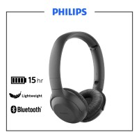 Philips TAUH202BK UpBeat Wireless On-Ear Headphones with Mic Black