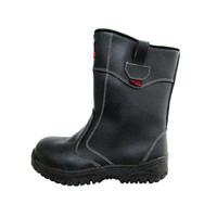 Sepatu Safety Murah / Safety Shoes Track Raktayoo TR 004H (HITAM)